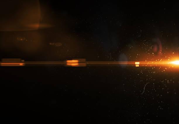 Minimalistic orange abstract flare light (super high resolution) stock photo