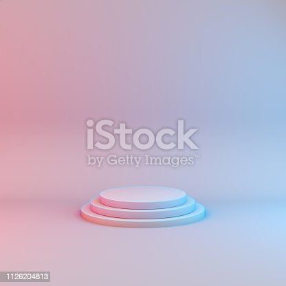 istock Minimalistic showcase with empty space. Design for product presentation. 1126204813