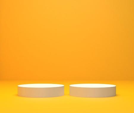 Minimalistic showcase with empty space