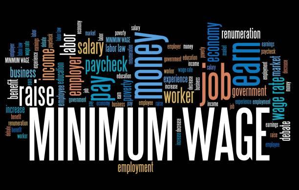 Minimum pay stock photo