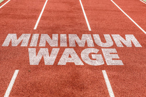 Minimum Wage Minimum Wage sign economic reform stock pictures, royalty-free photos & images