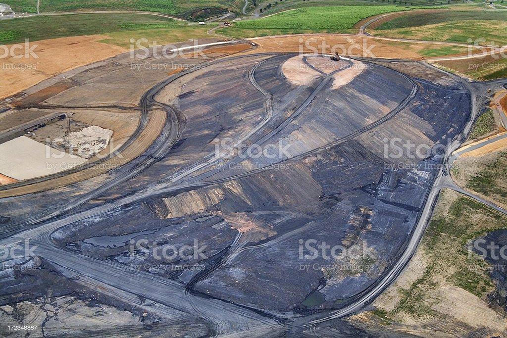 Mining area stock photo