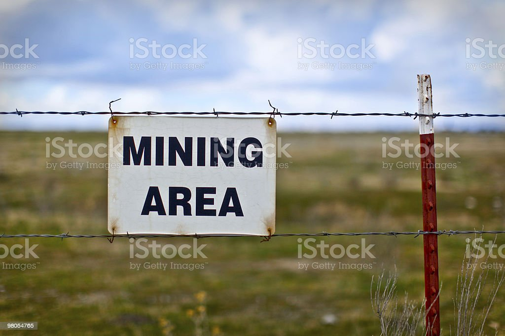 Mining Area royalty-free stock photo