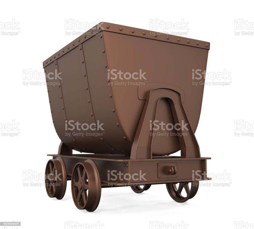 Mining Cart Isolated stock photo