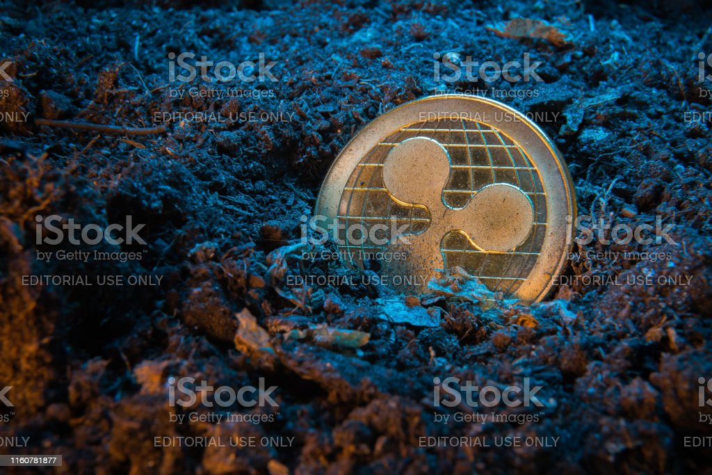 Mining Crypto Currency Ripple Coin Online Money Coin In The