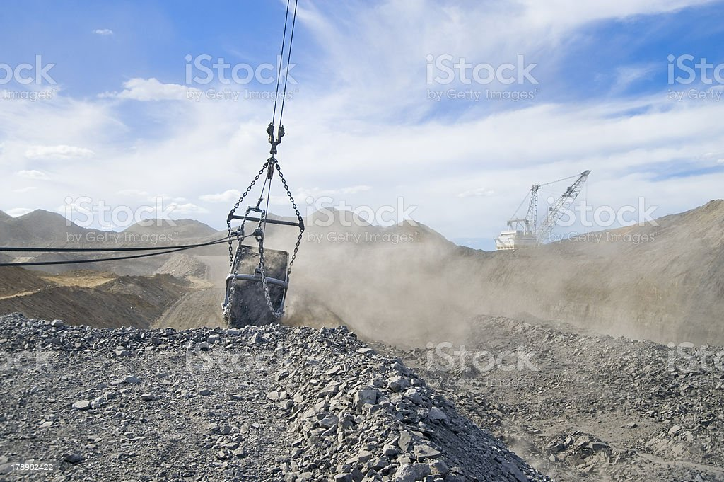 Mining Dragline and bucket stock photo