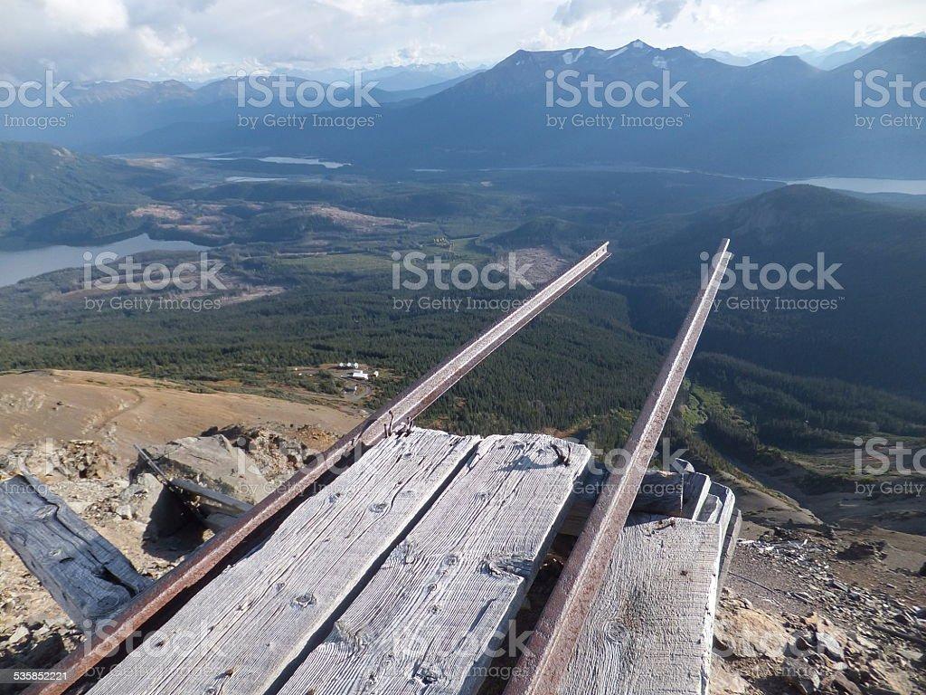 Mining handcar rail stock photo