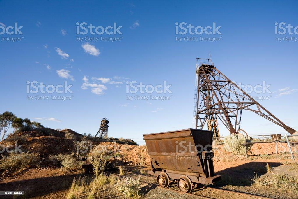 Mining Head Frame stock photo