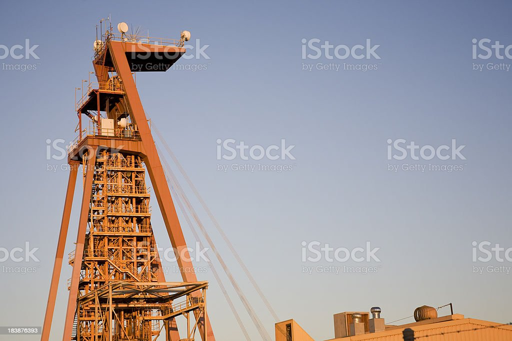 Mining Headframe stock photo