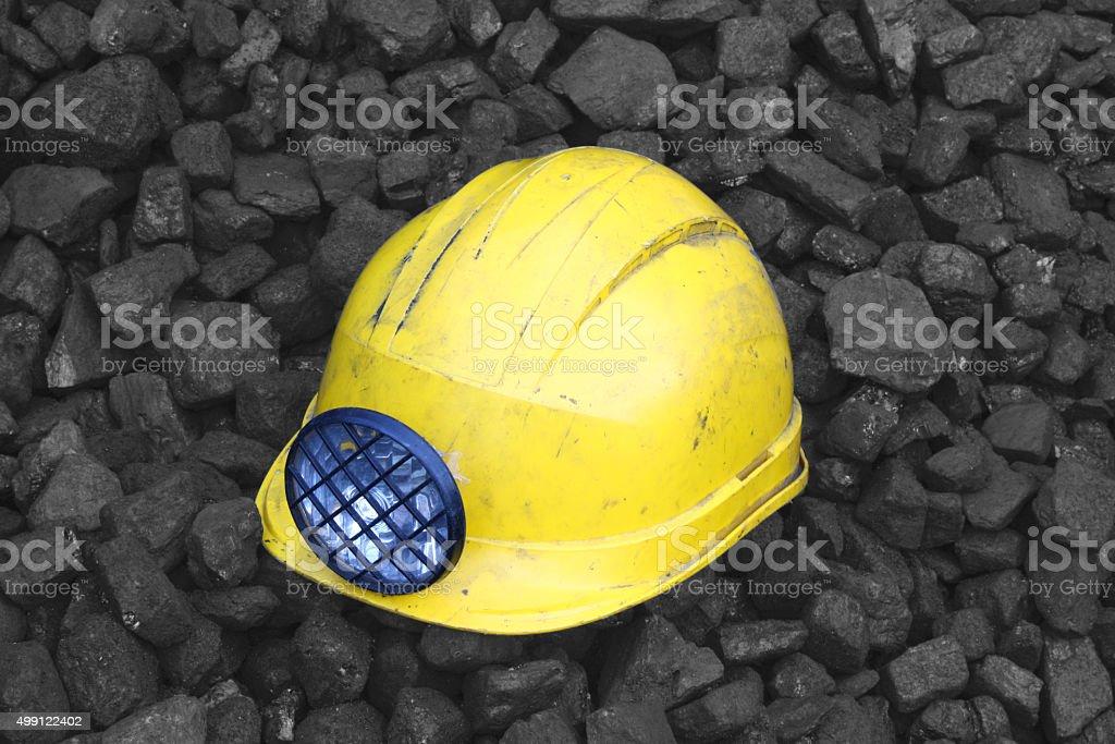 Mining helmet stock photo