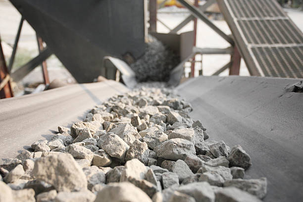 bergbau - betonwerkstein stock-fotos und bilder