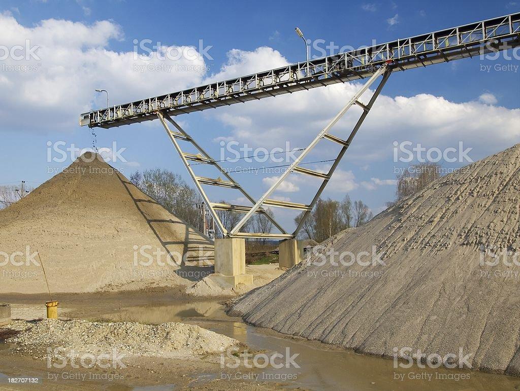 Mining of glaver royalty-free stock photo