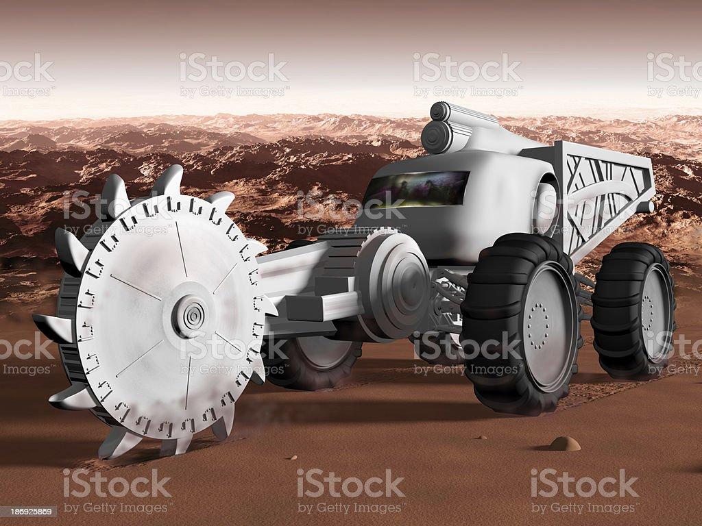 Mining on Mars stock photo