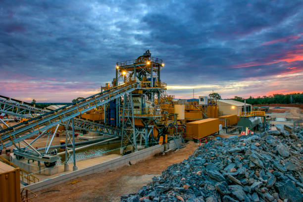 Mining. a large setup infrastructure for mining gold and other minerals in Australia. mining natural resources stock pictures, royalty-free photos & images