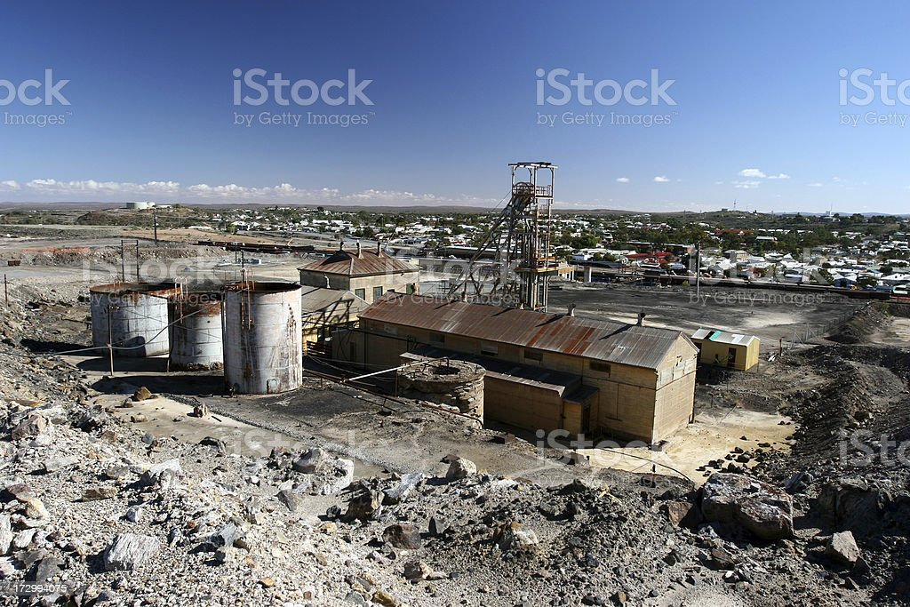 Mining Town royalty-free stock photo