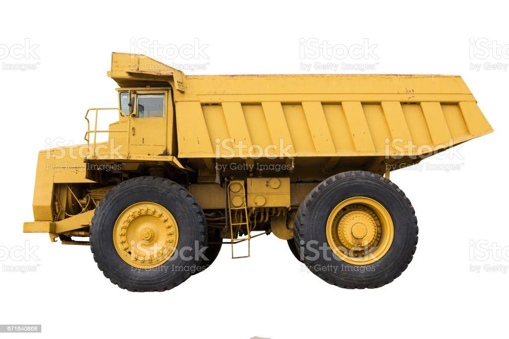 Mining truck isolate stock photo