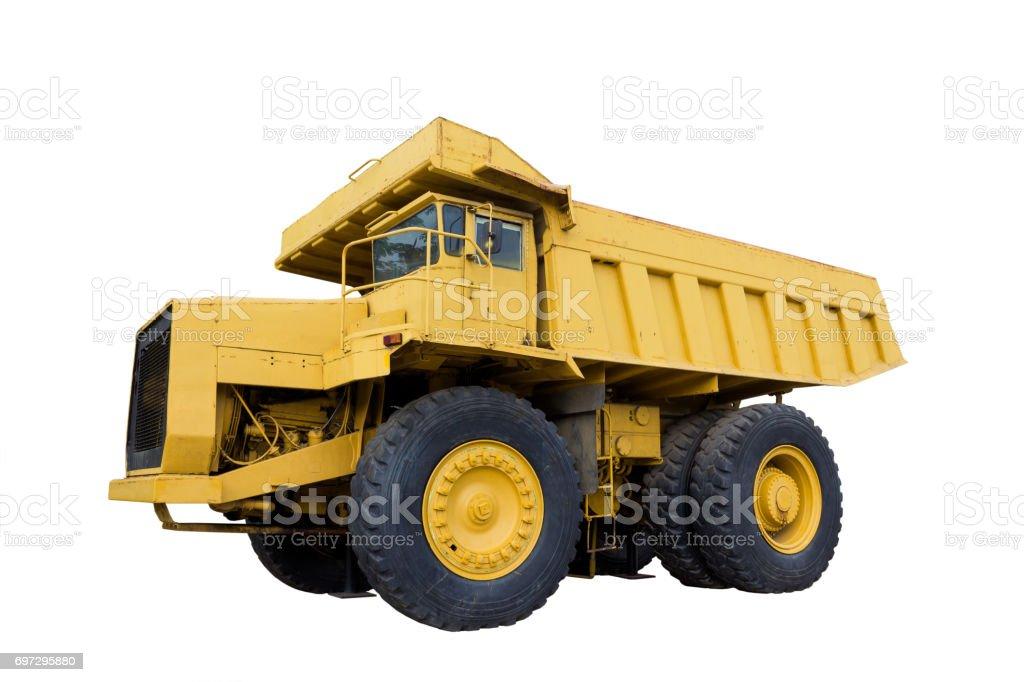 Mining truck isolated stock photo