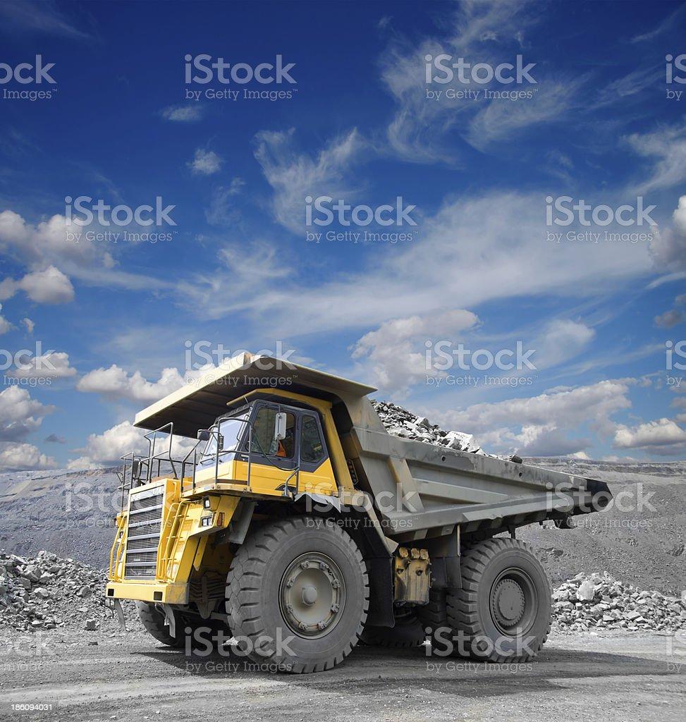Mining Truck stock photo