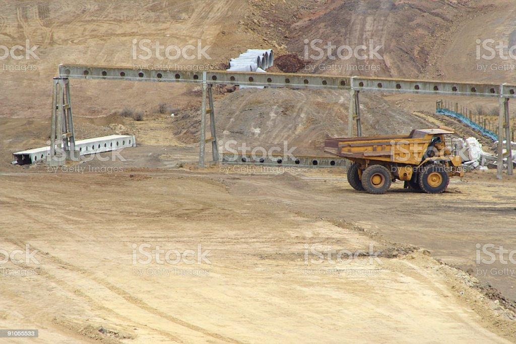 Mining truck royalty-free stock photo