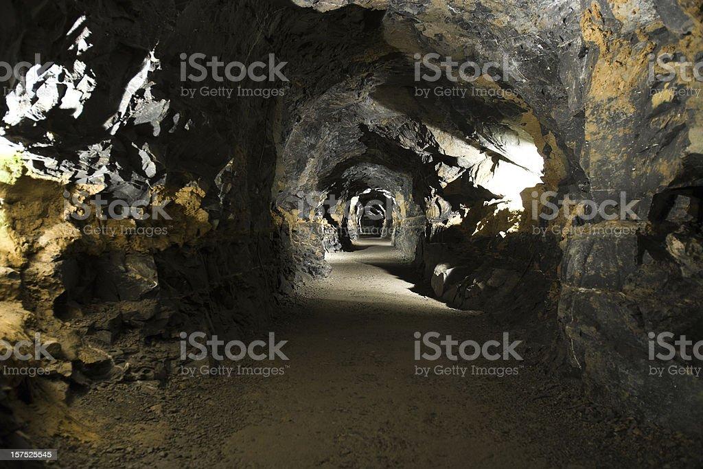 Mining tunnel. stock photo