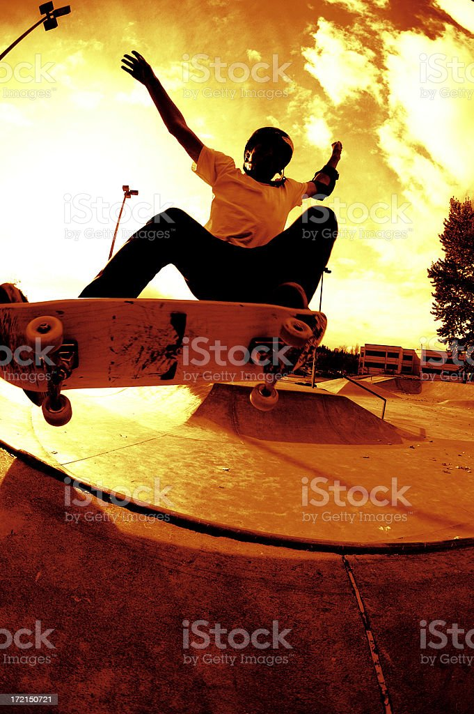 Mini-Ramp Frontside Ollie royalty-free stock photo