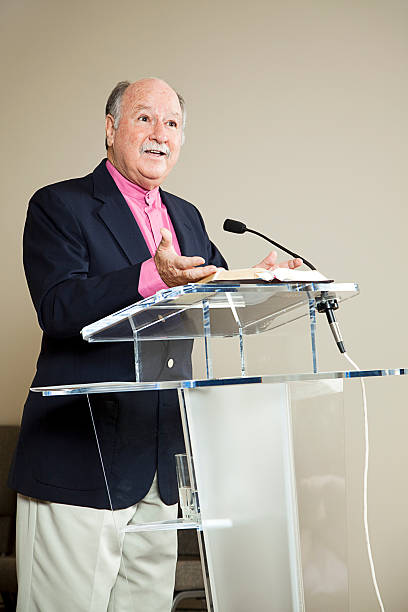 Minister at the Pulpit  pulpit stock pictures, royalty-free photos & images