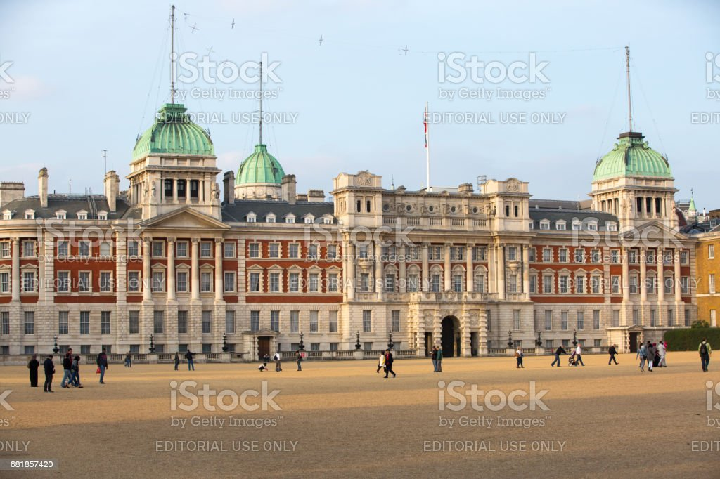 Ministry of Defence, Admiralty House, Household Cavalry Museum, Horse Guards Parade Westminster stock photo
