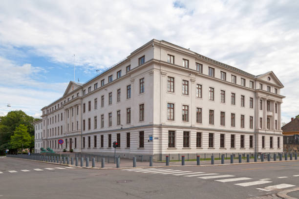 Ministry of Defense in Oslo stock photo