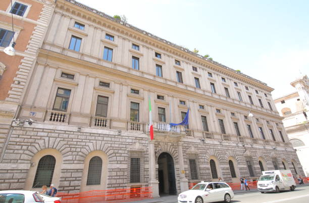 Ministry of Economy and Finance department Rome Italy stock photo