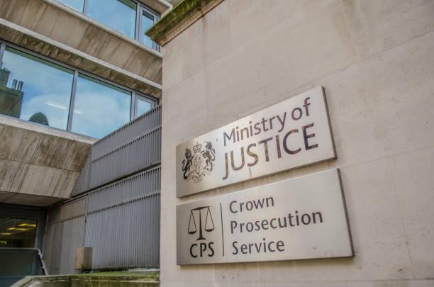 Ministerio de justicia y la Fiscalía de la corona, Londres - foto de stock