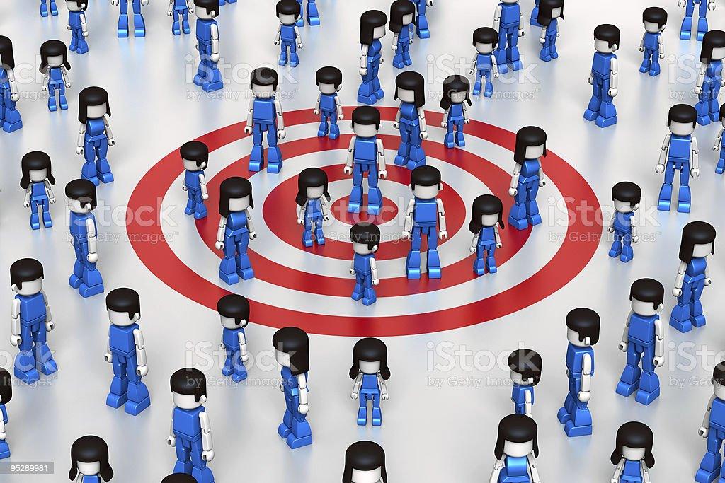 MiniToy Social Target Group stock photo