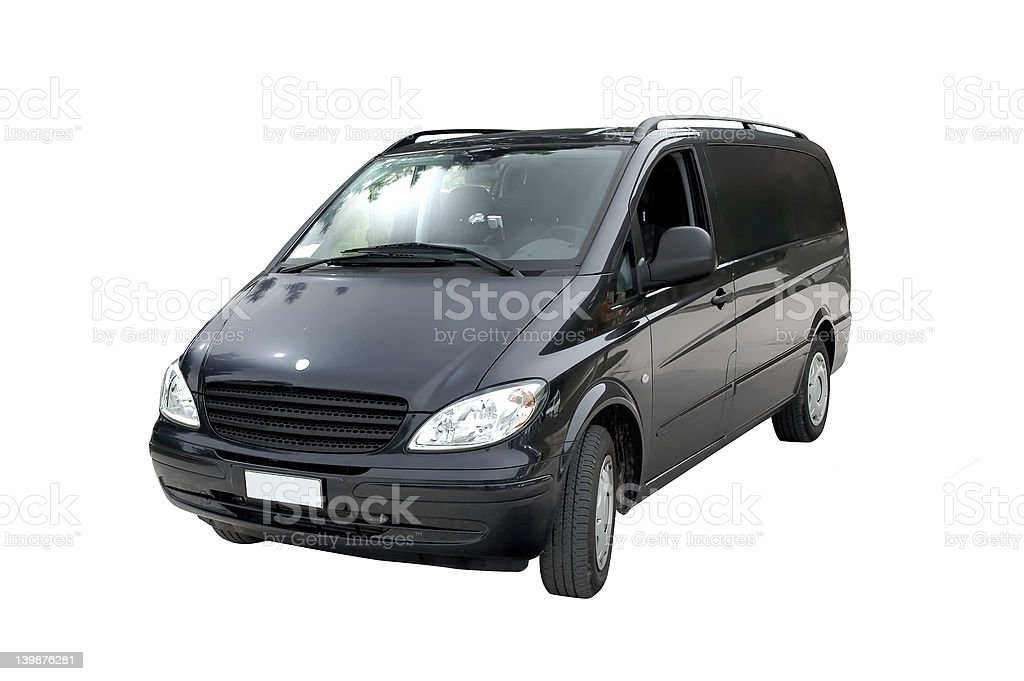 Minivan, isolated stock photo