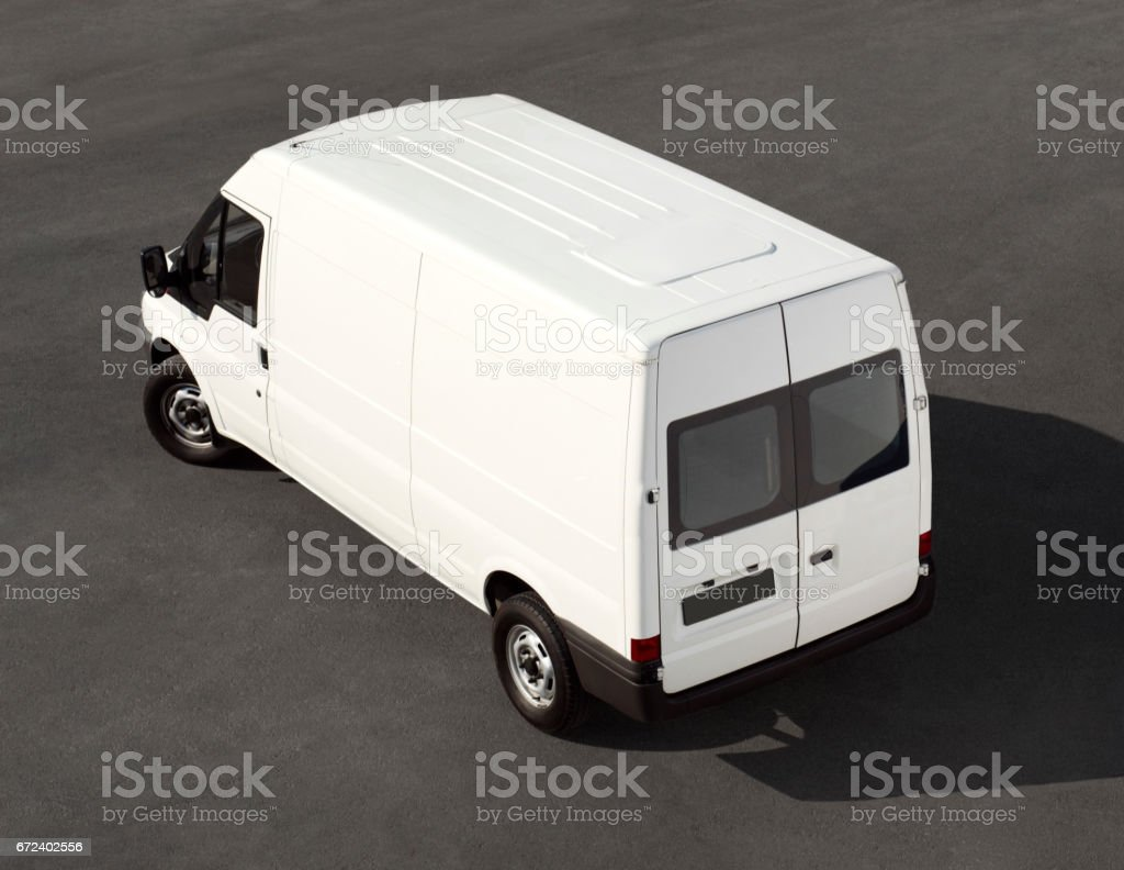 minivan(desig has been completely changed fro copyright concerns) stock photo
