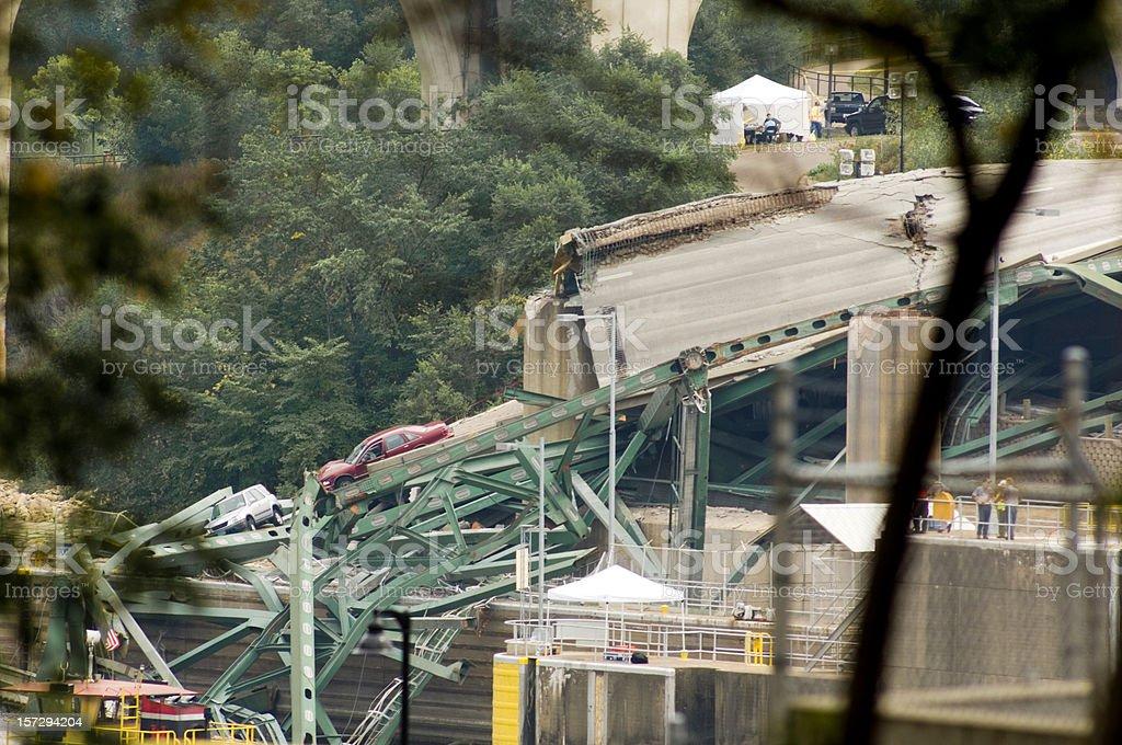 Minneapolis bridge collapse royalty-free stock photo