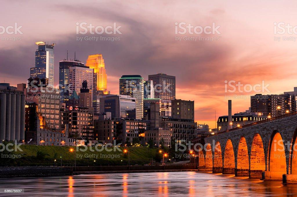 Minneapolis Minnesota royalty-free stock photo