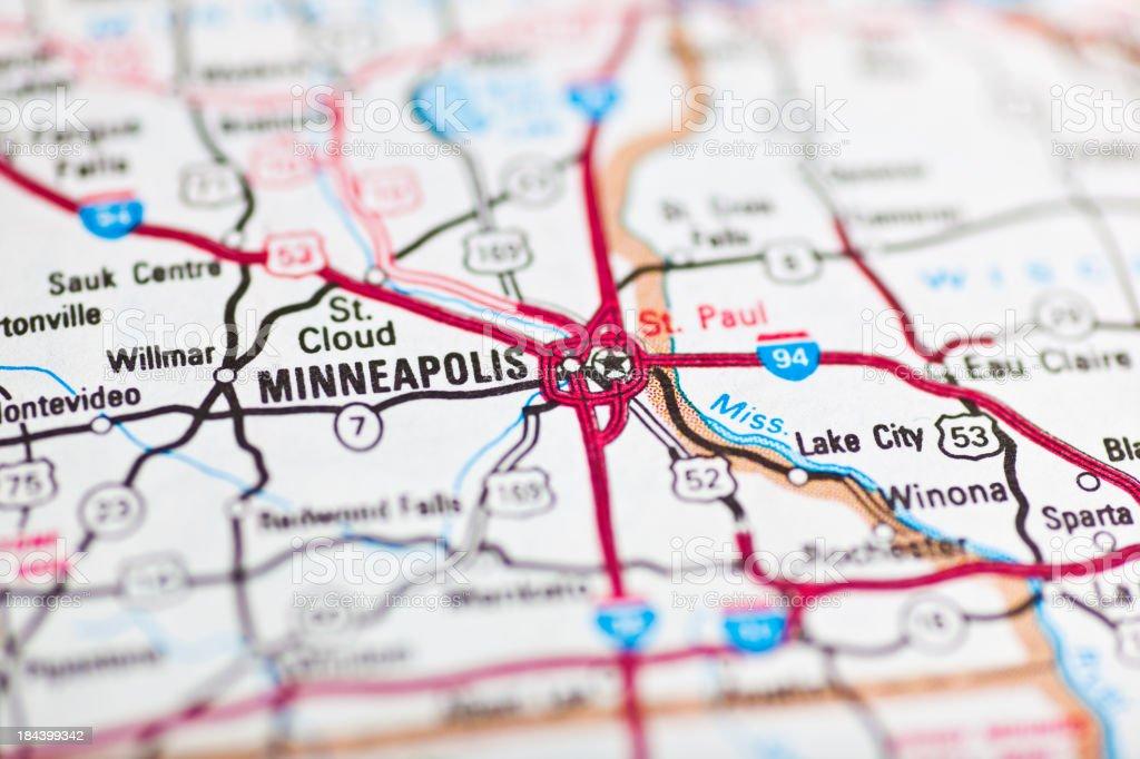 Minneapolis Minnesota Usakarte Stockfoto und mehr Bilder von ...