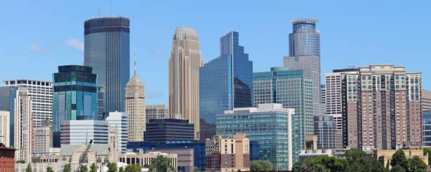 Minneapolis Skyline Panorama stock photo