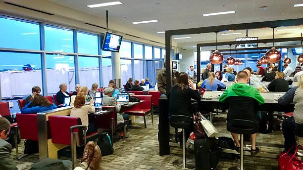 Minneapolis St Paul Airport Gate stock photo
