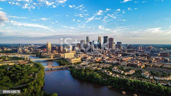 istock Minneapolis - Summer Cityscape 989949876