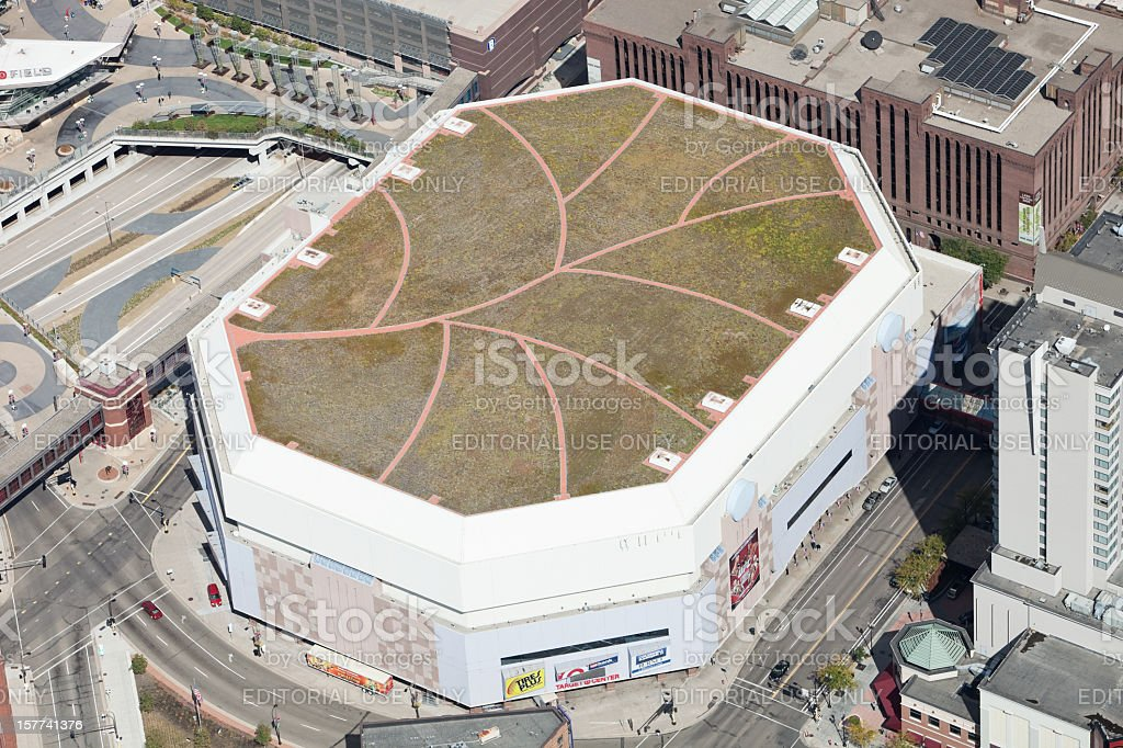 Minneapolis Target Center Aerial royalty-free stock photo