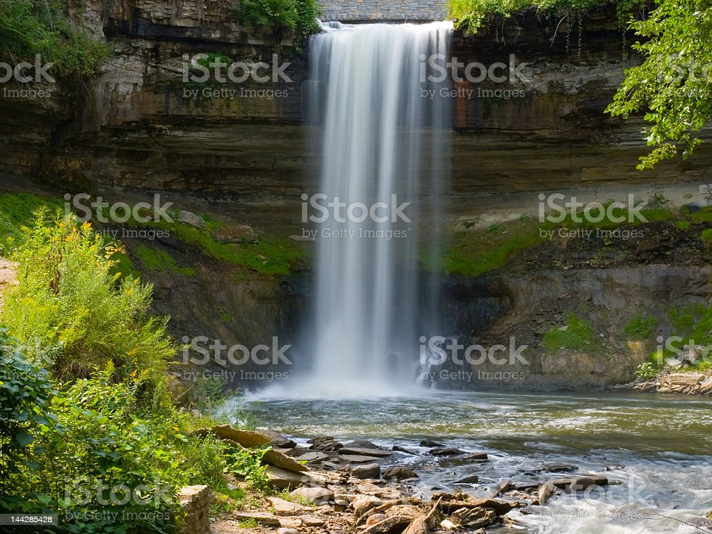 Minnehaha Falls, Minneapolis, MN royalty-free stock photo