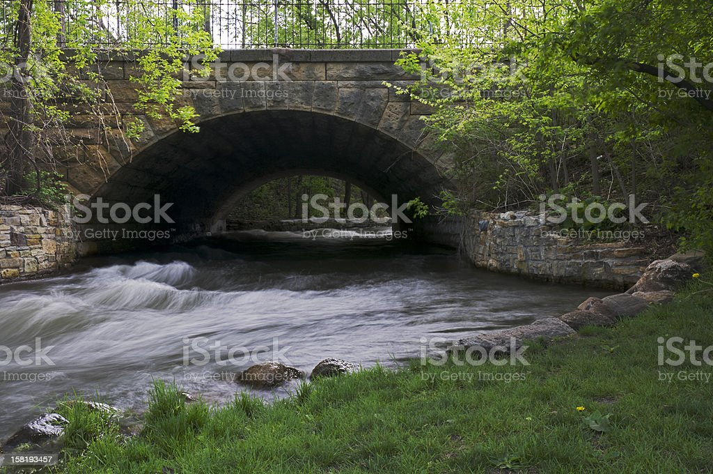 Minnehaha Park Aqueduct stock photo