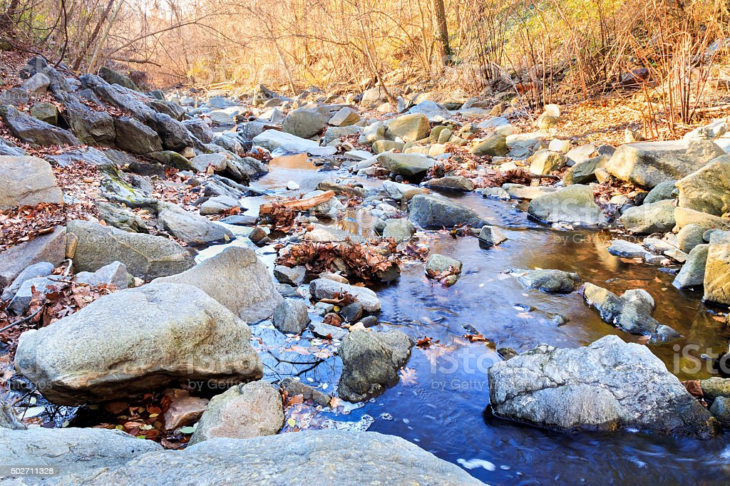 Minnehaha Stream - Bethesda, Maryland stock photo