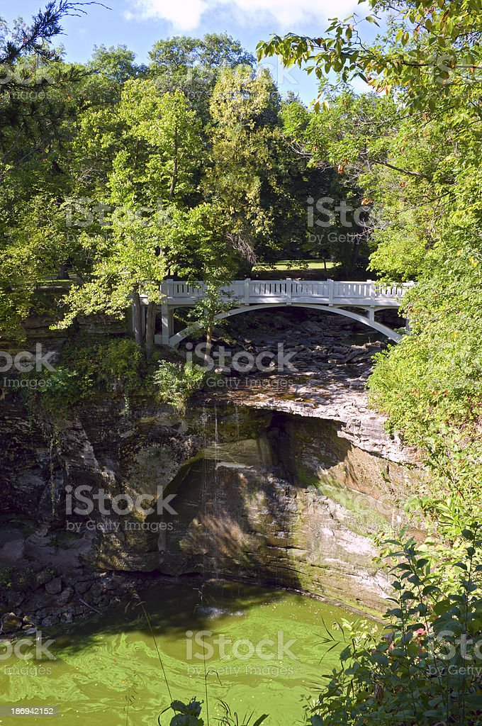 Minneopa State Park Bridge and Gorge royalty-free stock photo