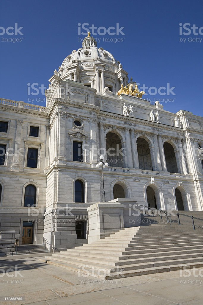 Minnesota Capitol Building - St. Paul royalty-free stock photo