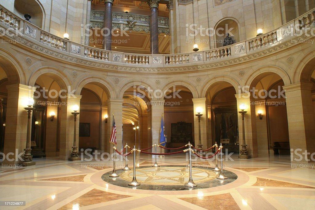 Minnesota Capitol Rotunda royalty-free stock photo