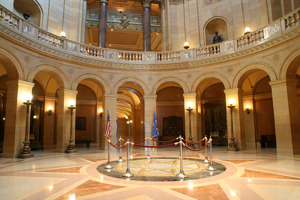 Rotonda del Capitolio de Minnesota - foto de stock