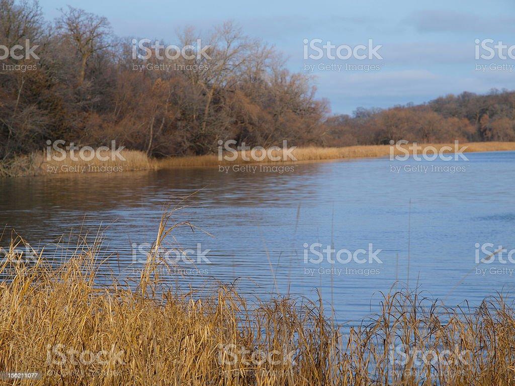 Minnesota Lake in November stock photo