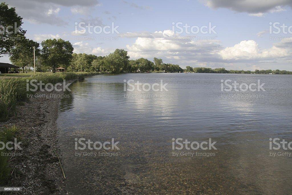 Minnesota Lake Shore stock photo