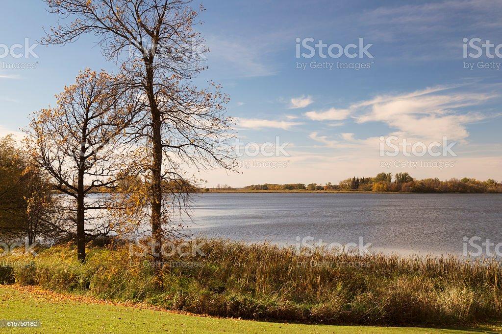 Minnesota Lakeshore in Autumn stock photo